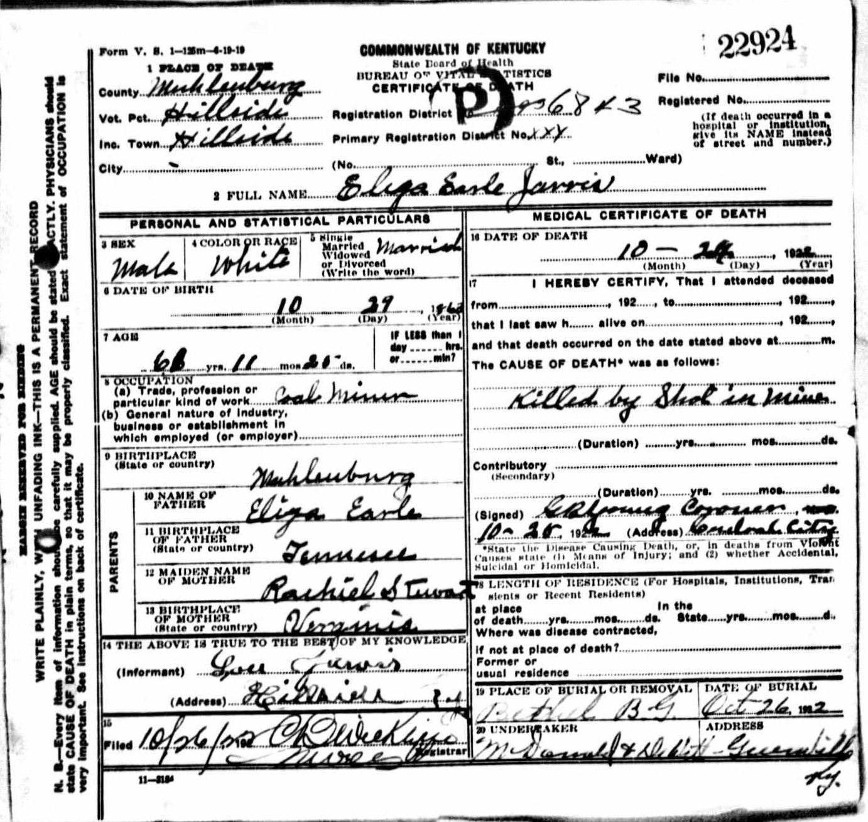 Death Certificates Ja
